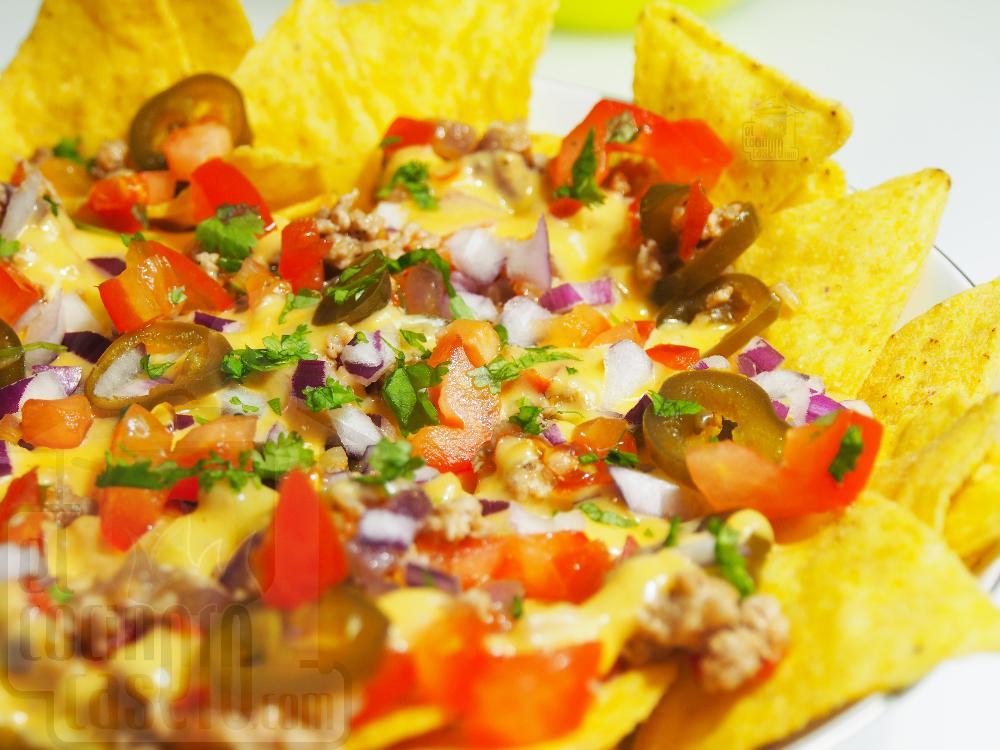Nachos con queso y carne - Paso 4