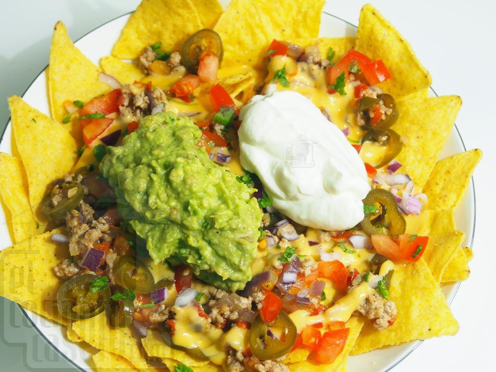 Nachos con queso y carne - Paso 5