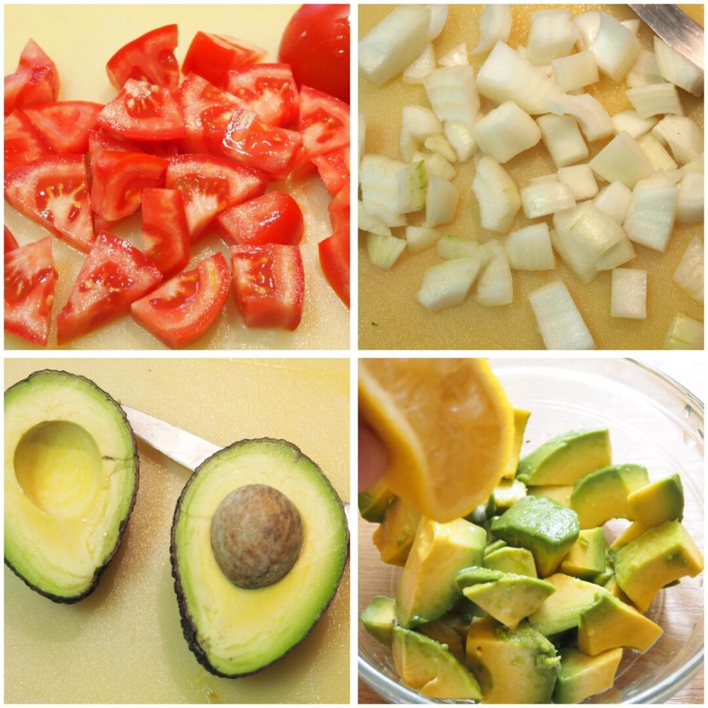 Ensalada de patata y aguacate con langostinos - Paso 3