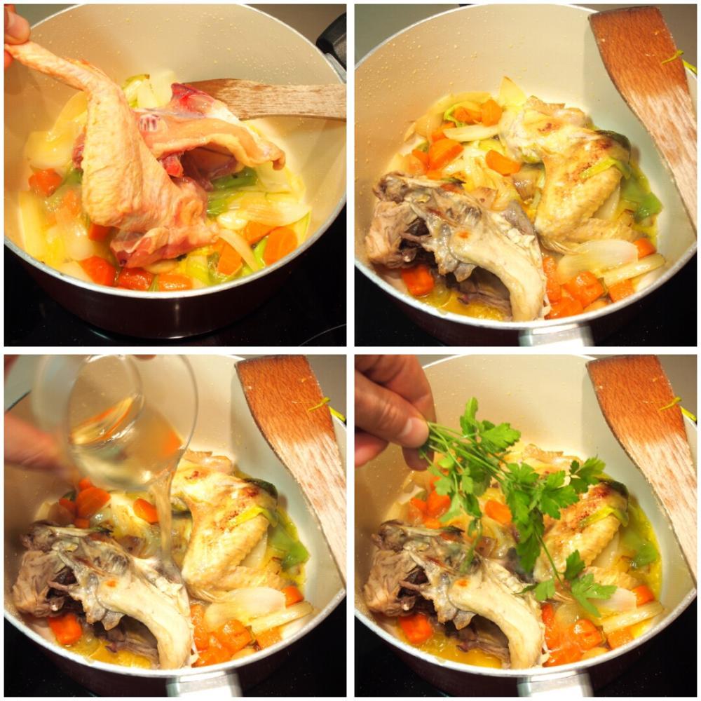 Caldo casero de pollo  - Paso 2