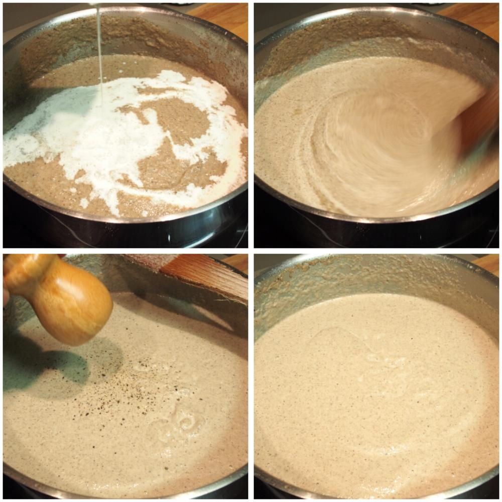 Crema de champiñones - Paso 4
