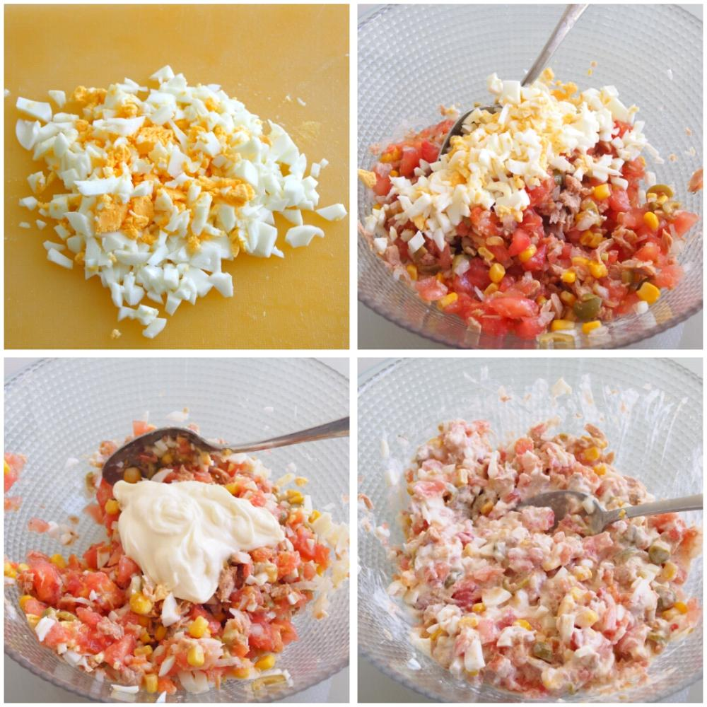 Tomates rellenos de atún y mayonesa - Paso 4