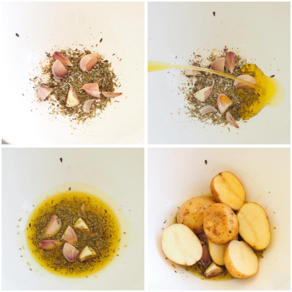Patatas asadas al horno - Paso 2