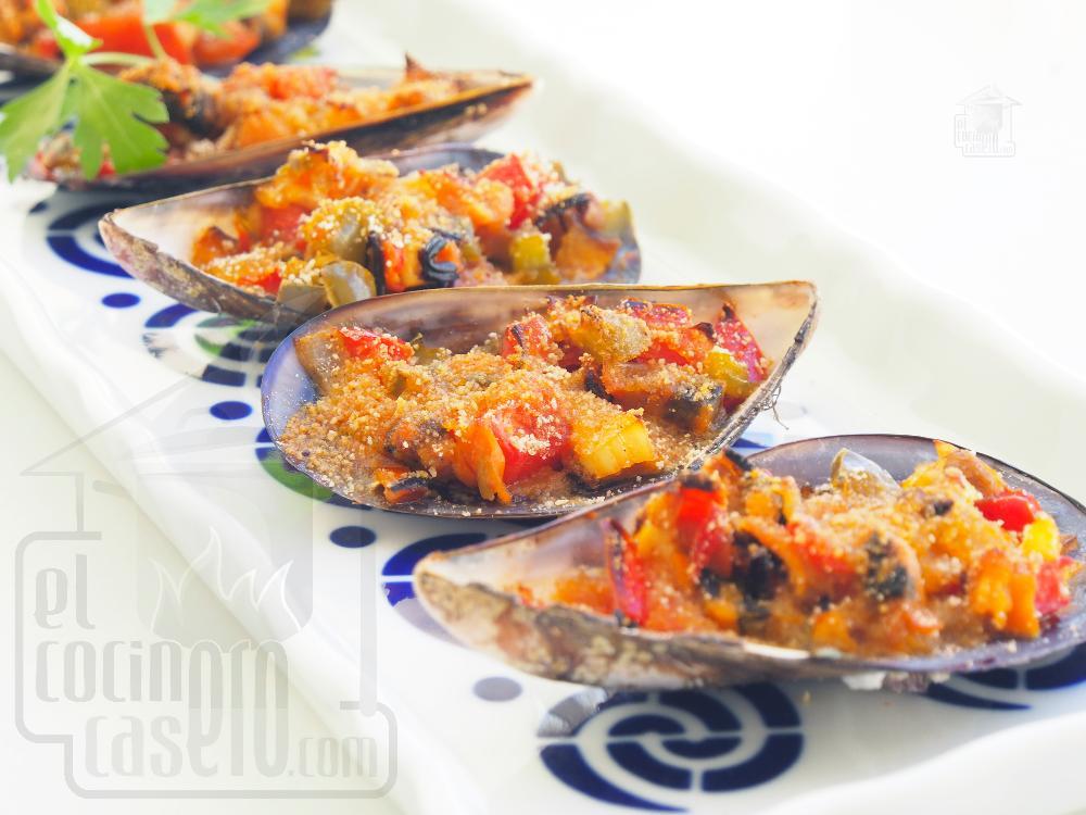 Mejillones al horno con pan rallado - Paso 8