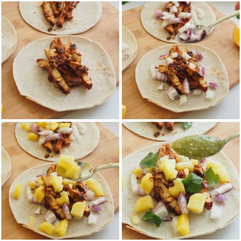 Tacos al pastor  - Paso 9