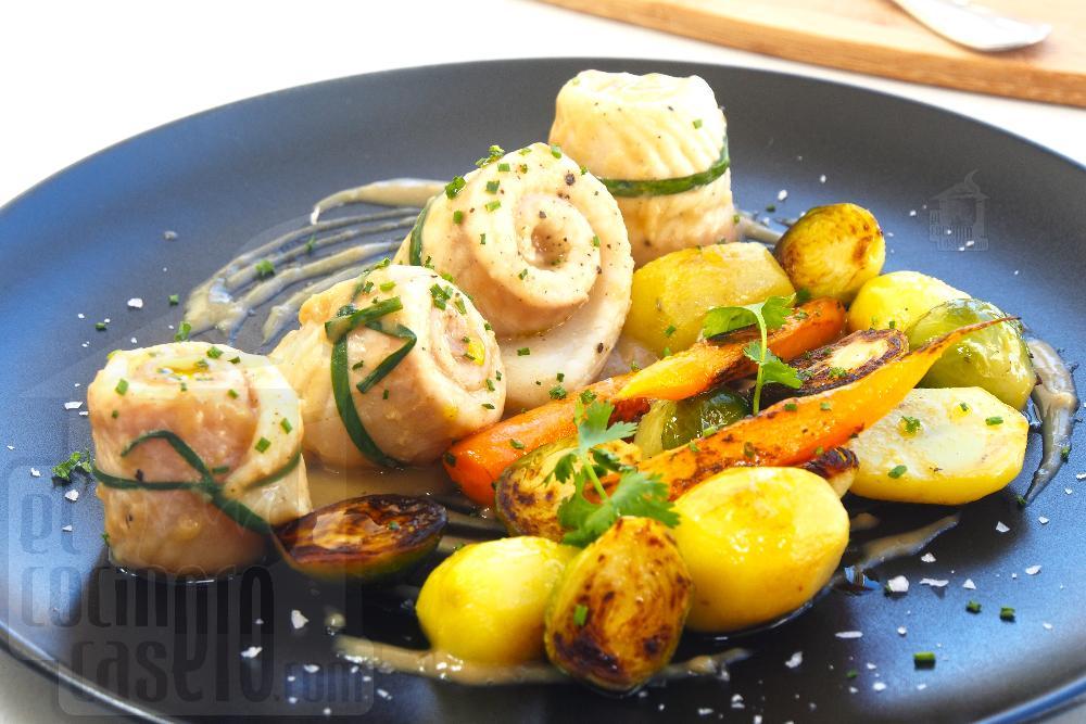 Lomos de lenguado en salsa velouté con verduras a la plancha - Paso 10
