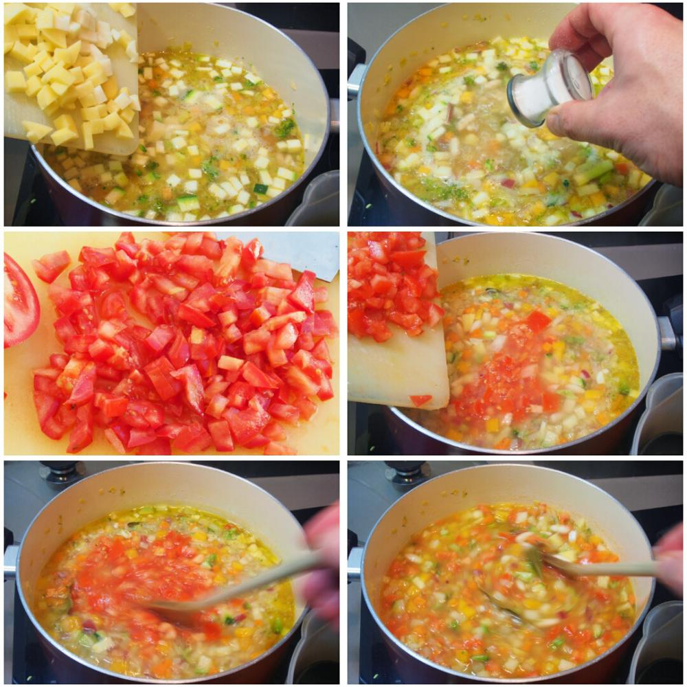 Sopa minestrone italiana - Paso 6
