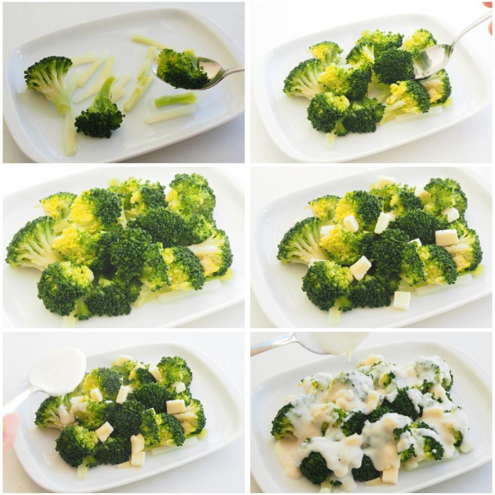 Brócoli al horno con queso - Paso 3
