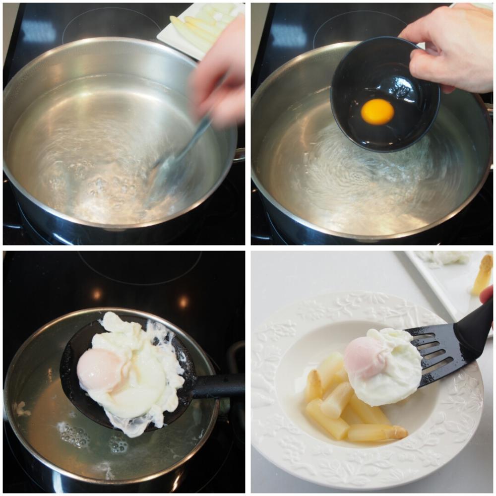 Espárragos blancos con huevo escalfado  - Paso 3