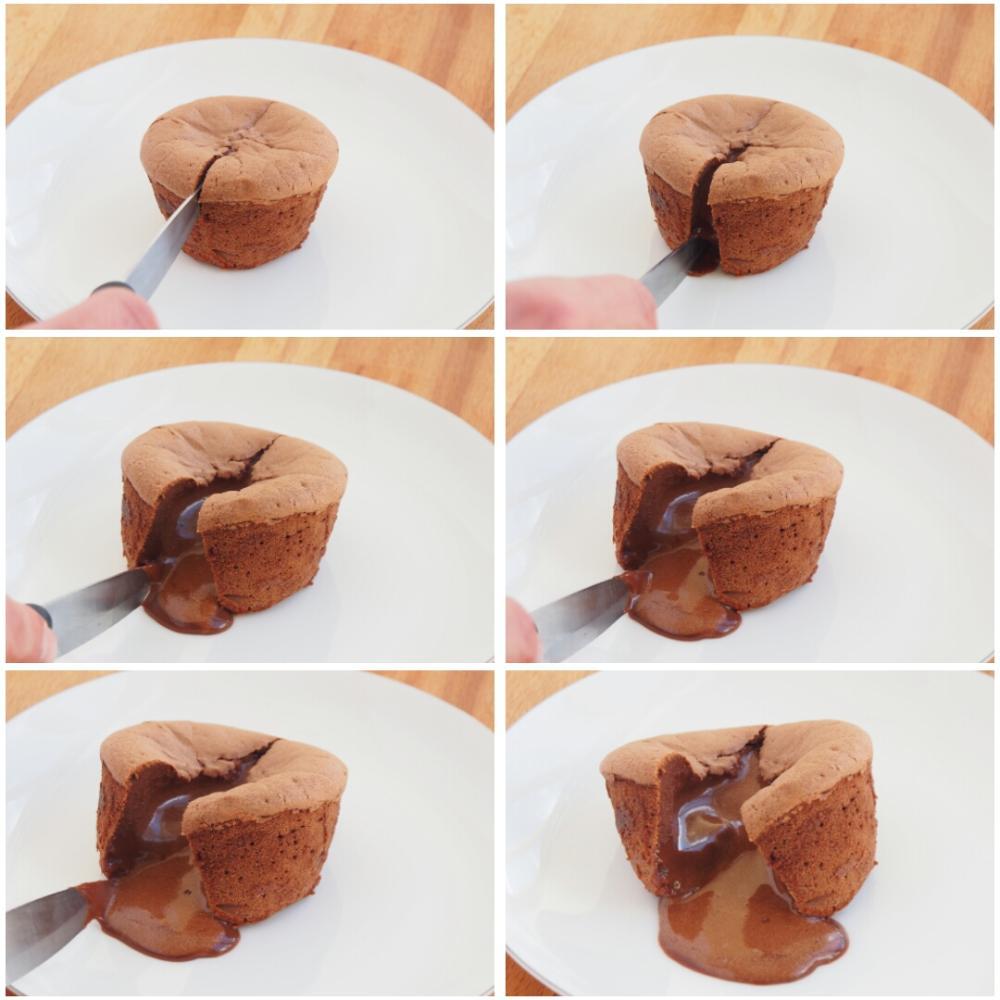 Coulant de chocolate - Paso 9