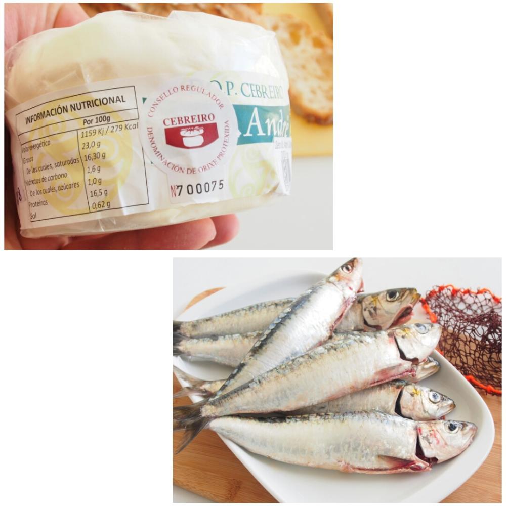 Ensalada de sardina ahumada y Queixo do Cebreiro - Paso 1