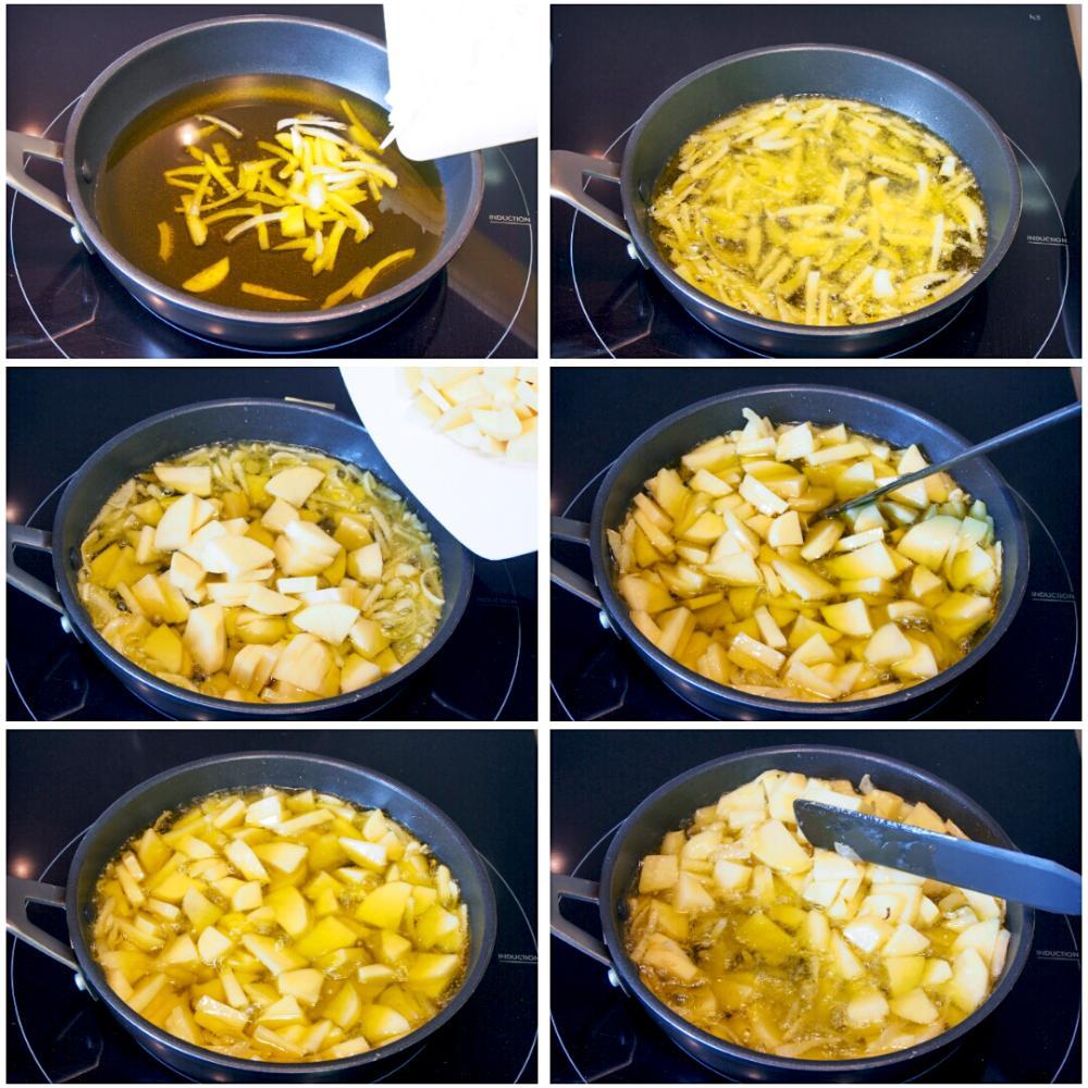 Tortilla de patata con chorizo - Paso 3