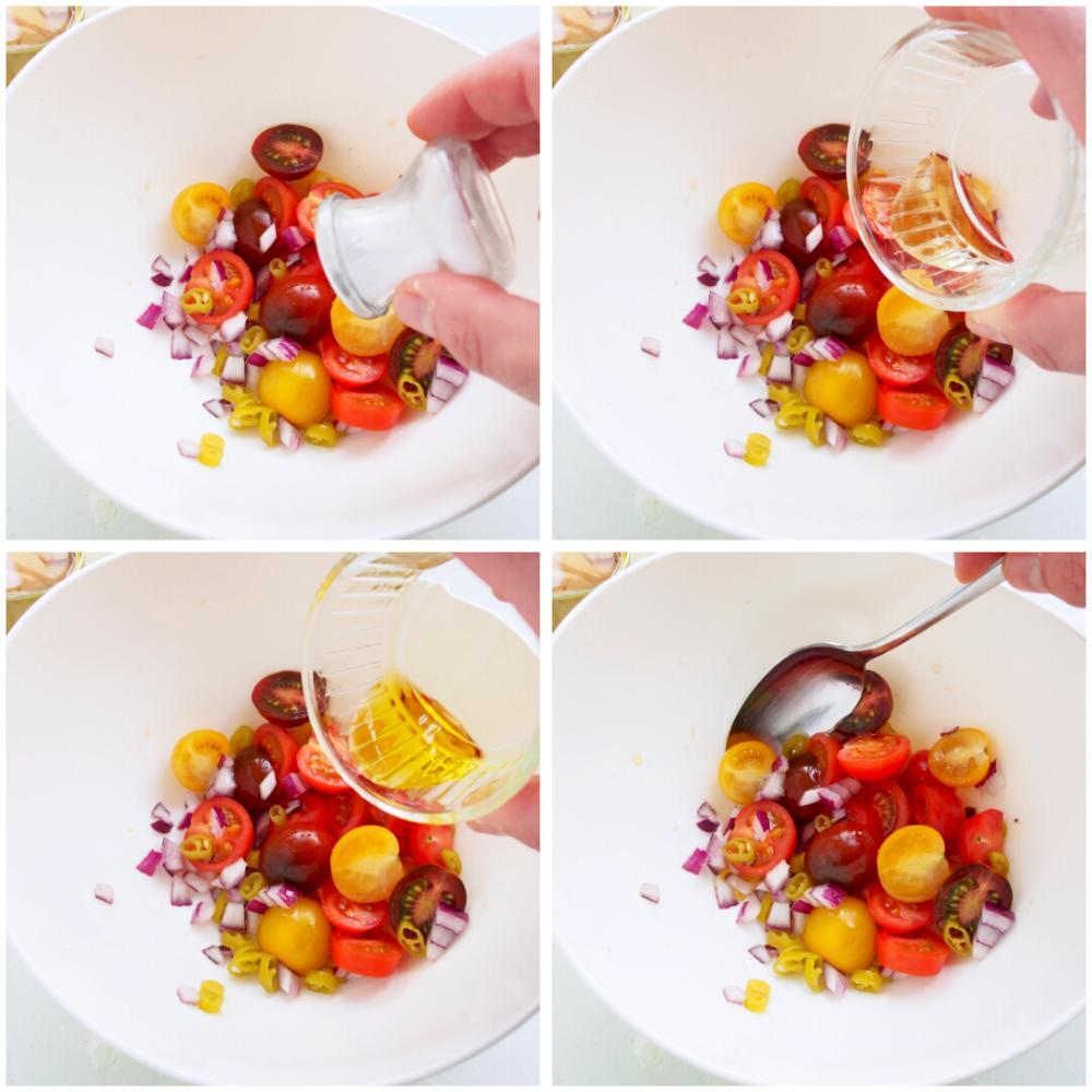 Ensalada de ventresca y tomate - Paso 3
