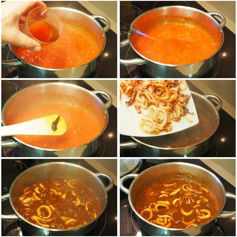 Calamares en salsa americana - Paso 5