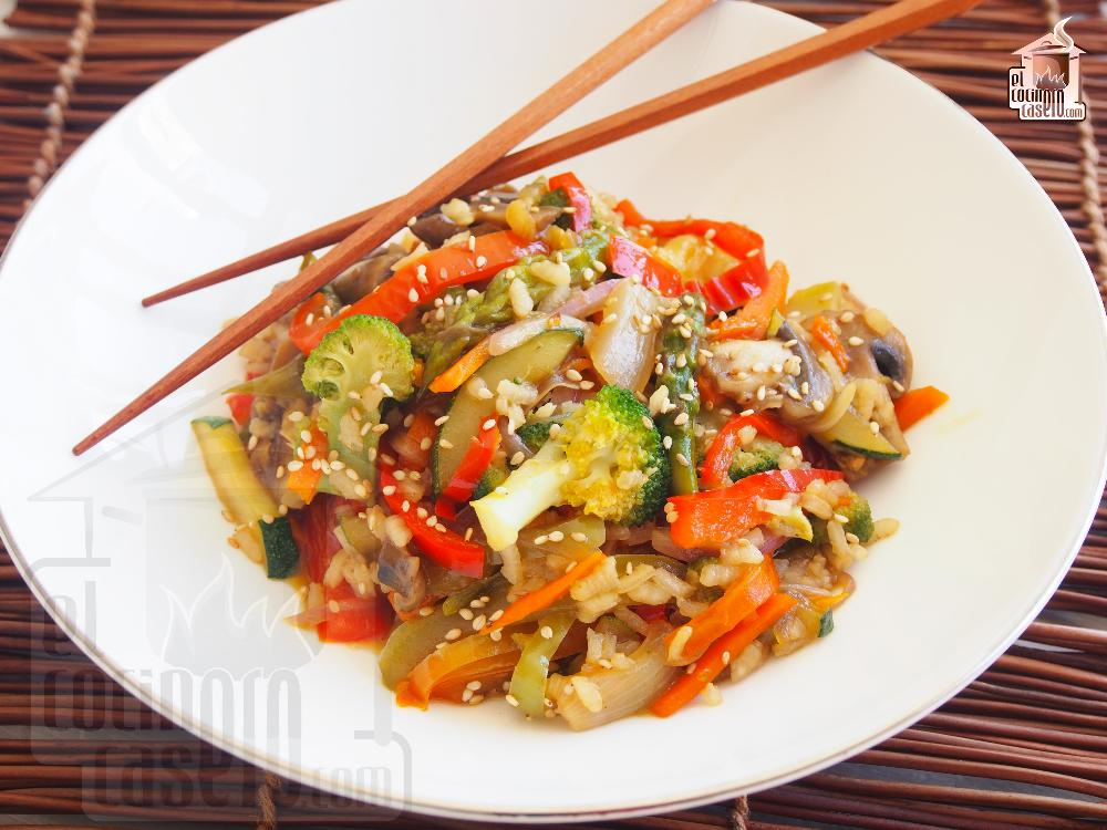 Wok de verduras con soja