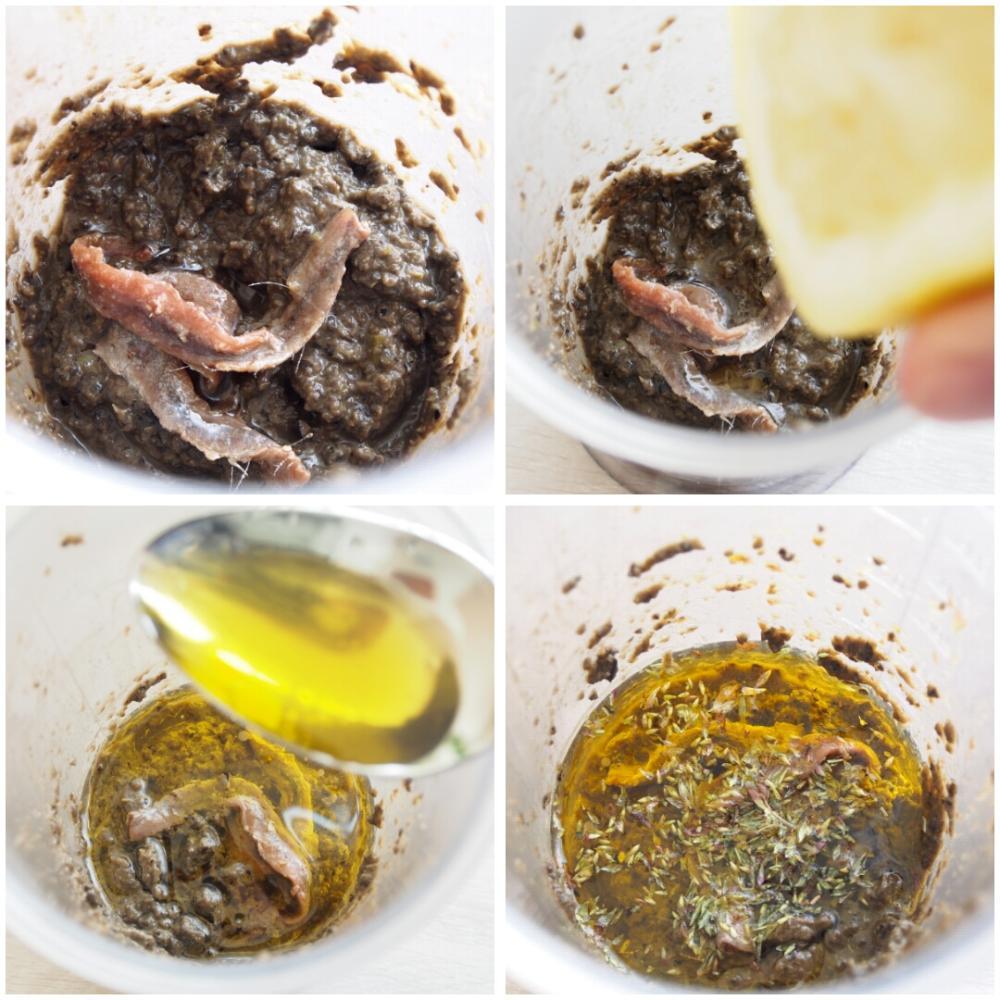 Tapenade de olivas negras - Paso 2