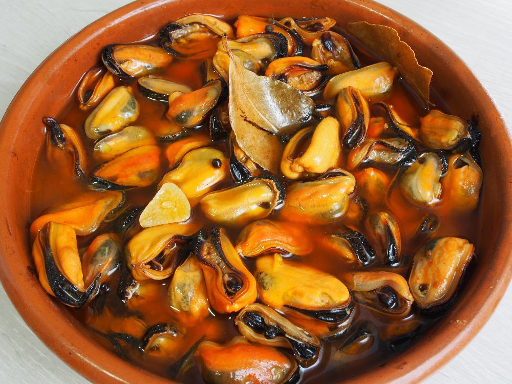 Mejillones en escabeche de naranja - Paso 5