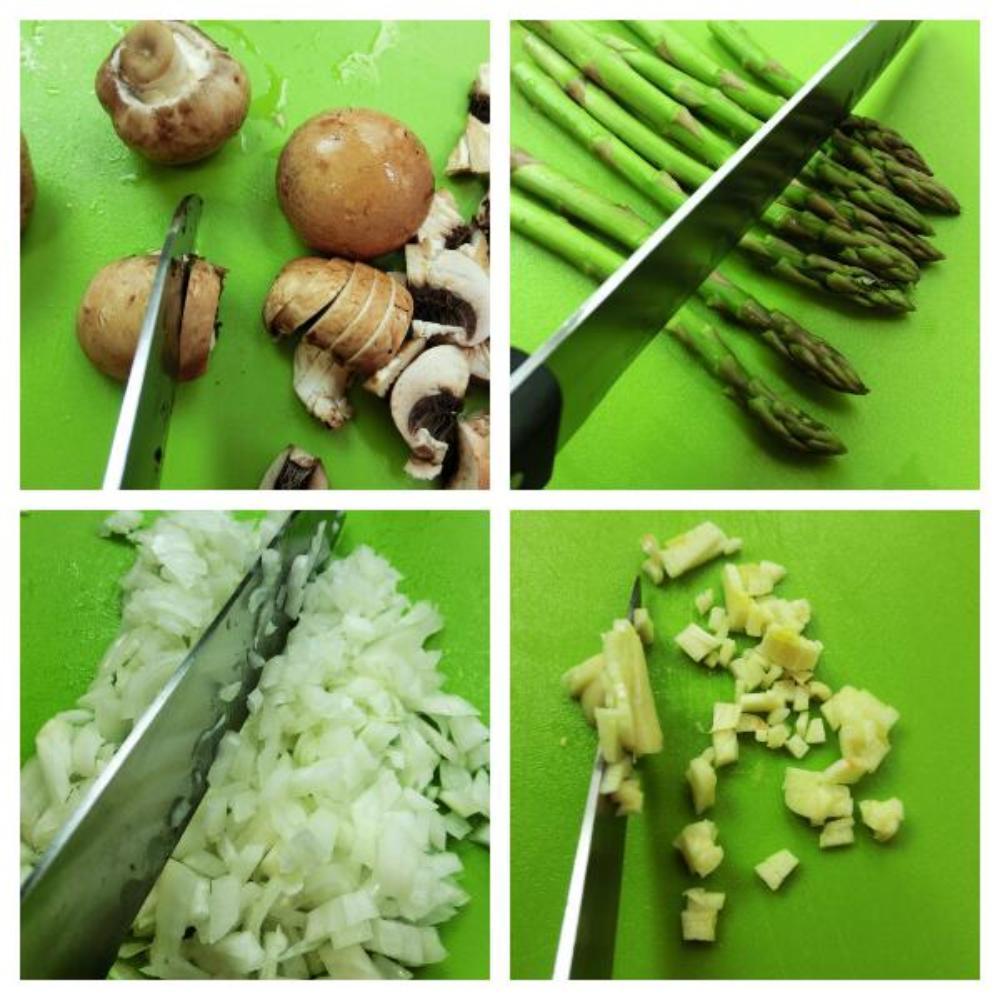 Risotto de setas y espárragos trigueros - Paso 2