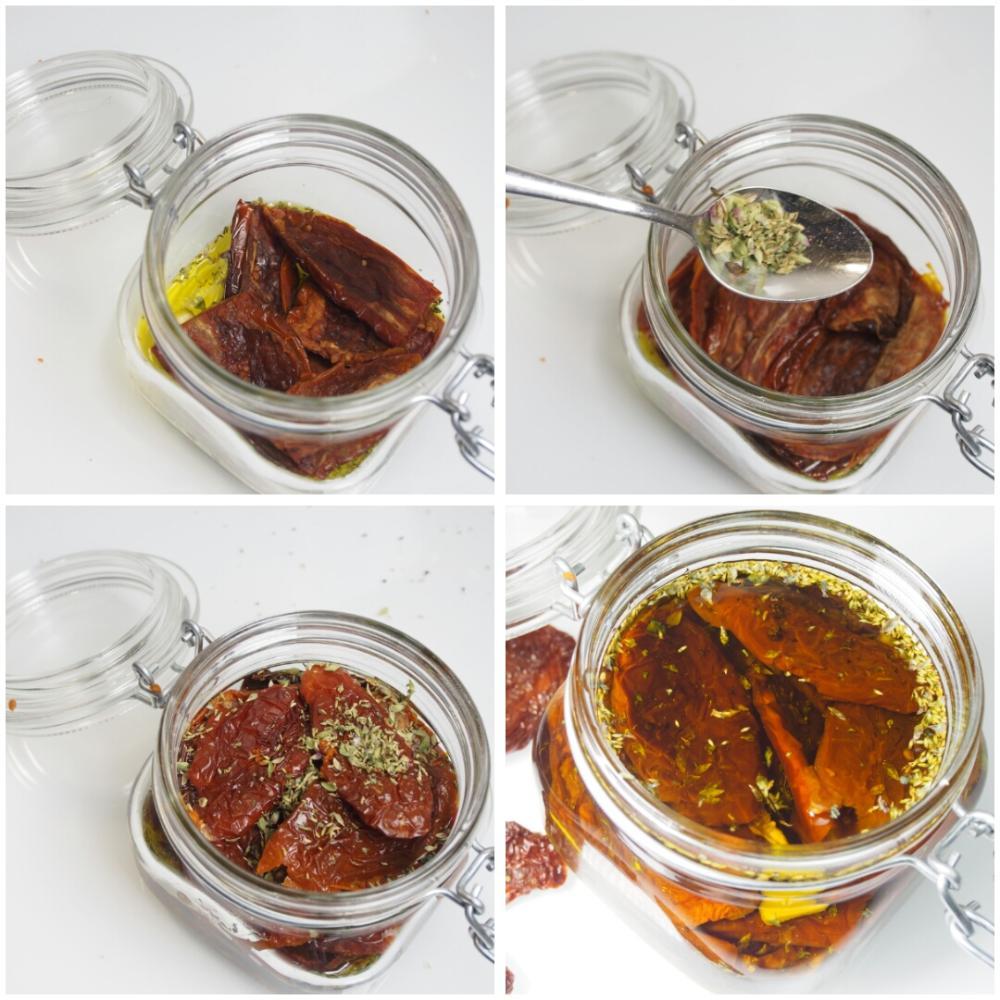 Tomates secos en aceite de oliva - Paso 3