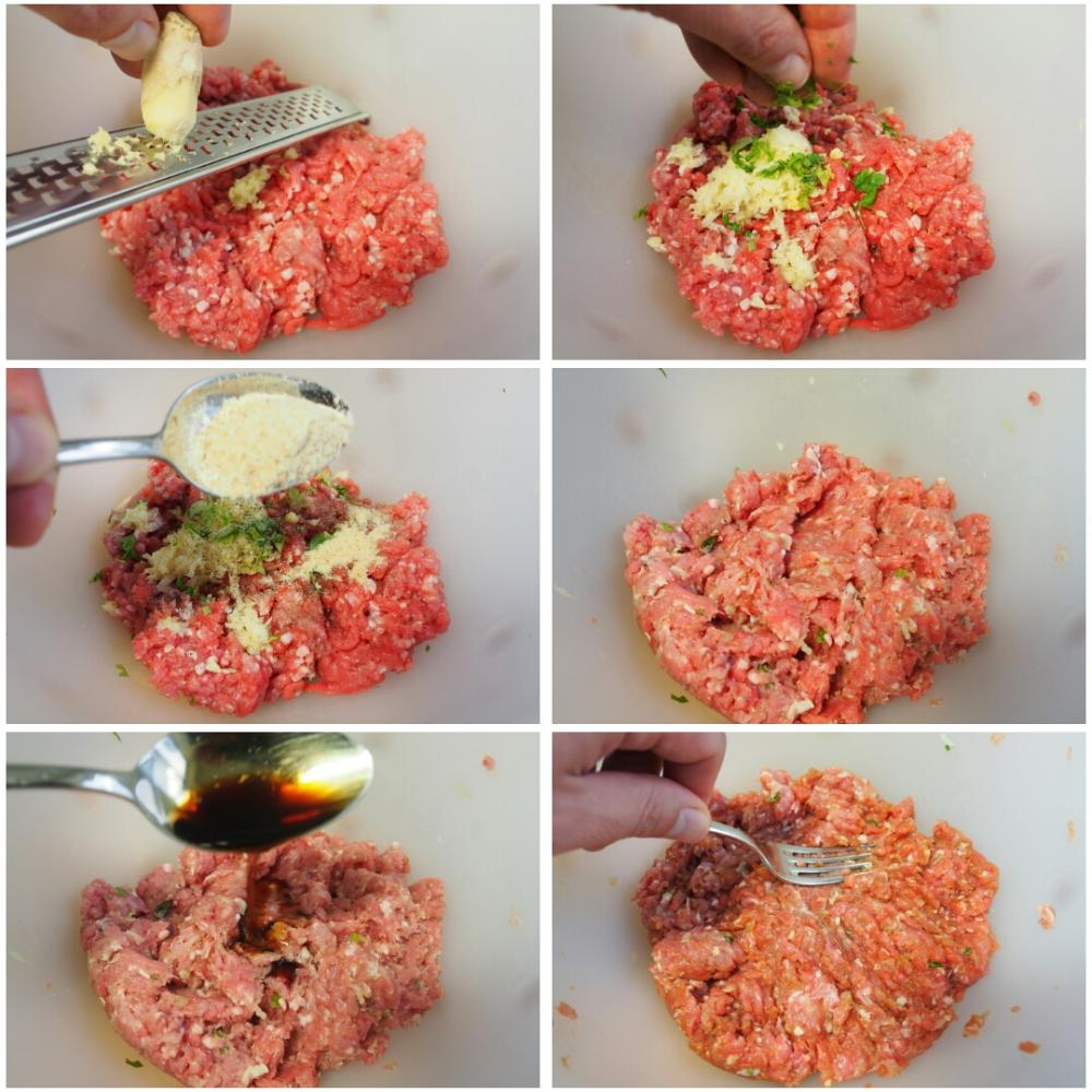 Rollo de carne molida relleno - Paso 1