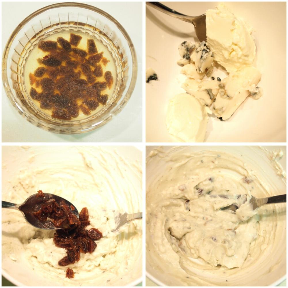 Sándwich de queso azul y rúcula - Paso 1