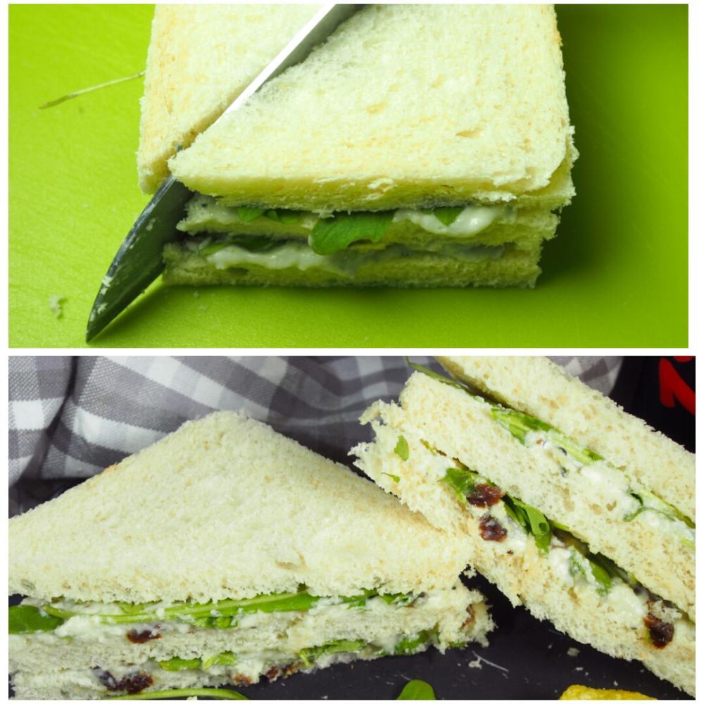 Sándwich de queso azul y rúcula - Paso 3