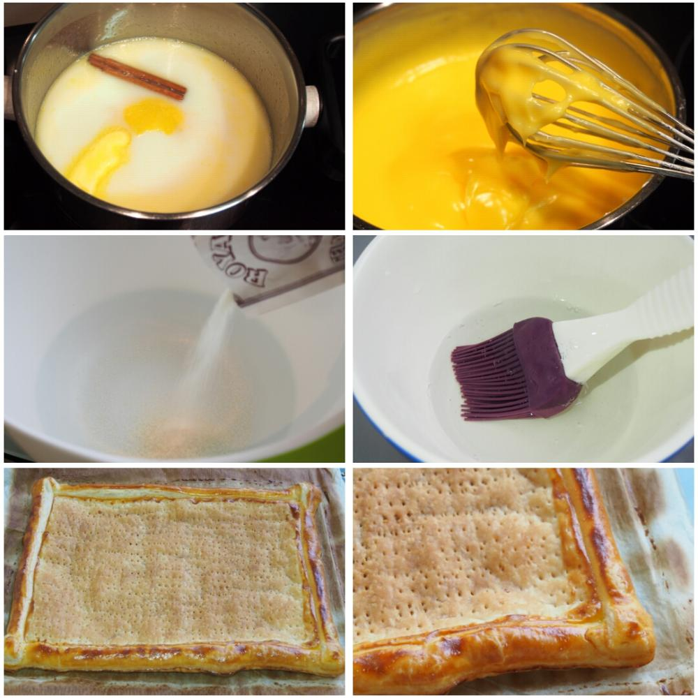 Hojaldre de frutas con crema pastelera - Paso 2