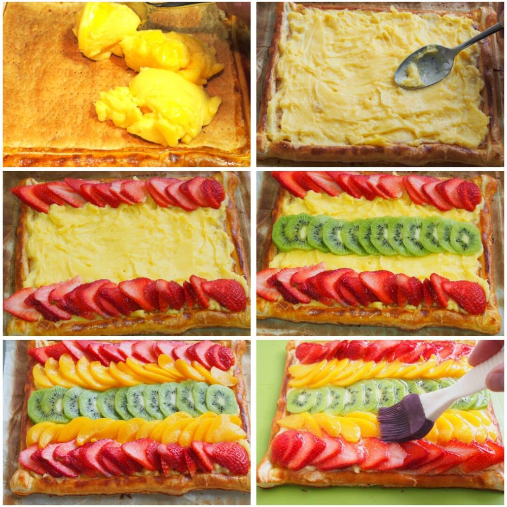 Hojaldre de frutas con crema pastelera - Paso 3
