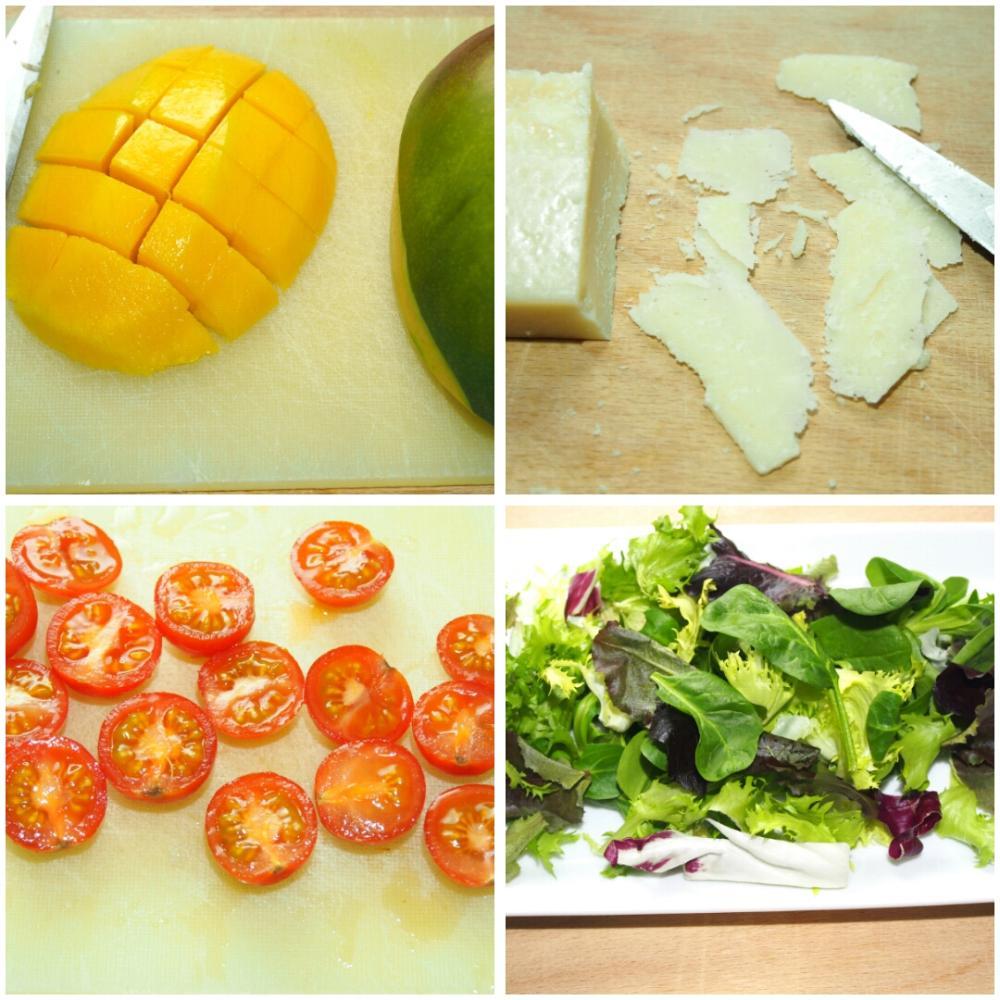Ensalada de mango y cecina - Paso 1