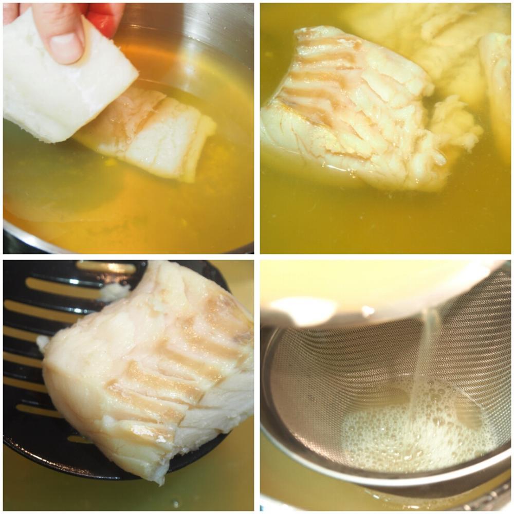 Potaje de garbanzos con bacalao y espinacas - Paso 2