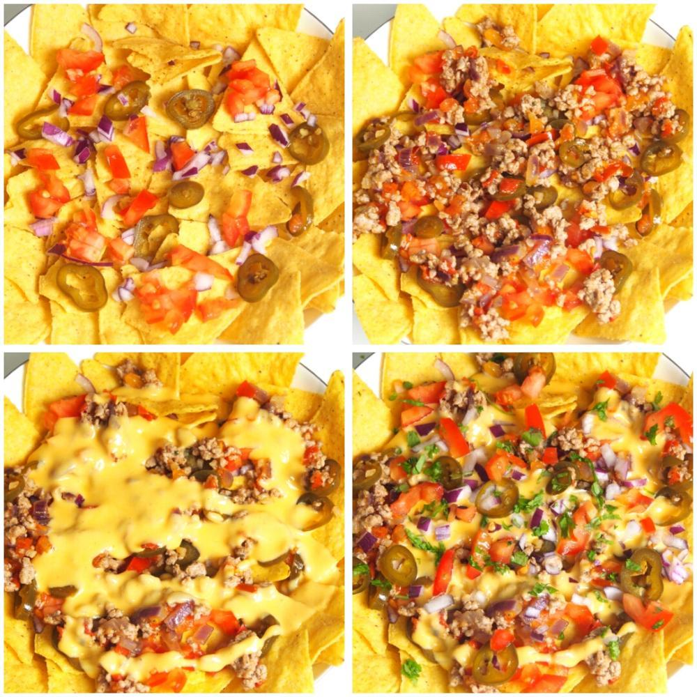 Nachos con queso y carne - Paso 3