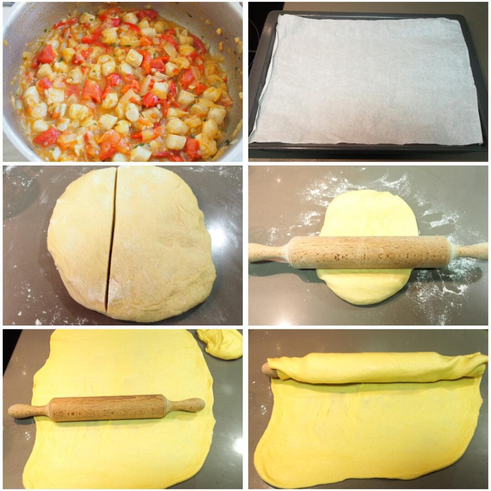 Empanada de zamburiñas - Paso 4