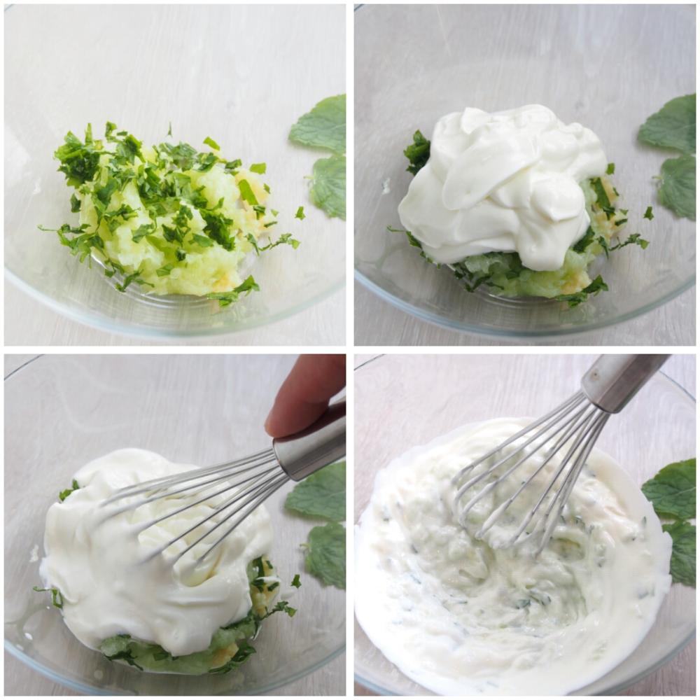 Tzatziki griego de yogur - Paso 3