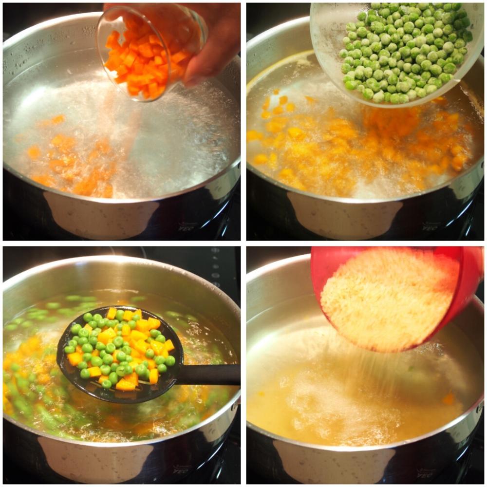 Arroz frito tres delicias - Paso 2