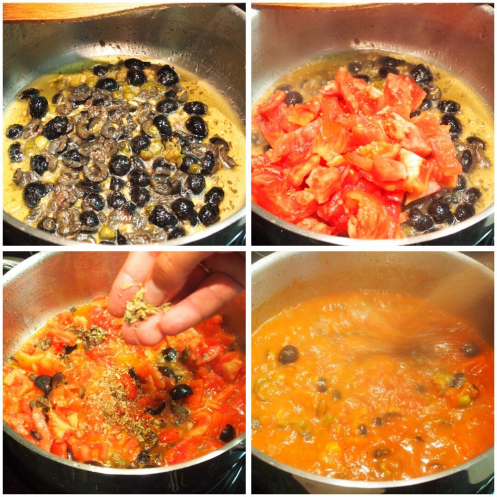 Spaghetti alla puttanesca - Paso 3