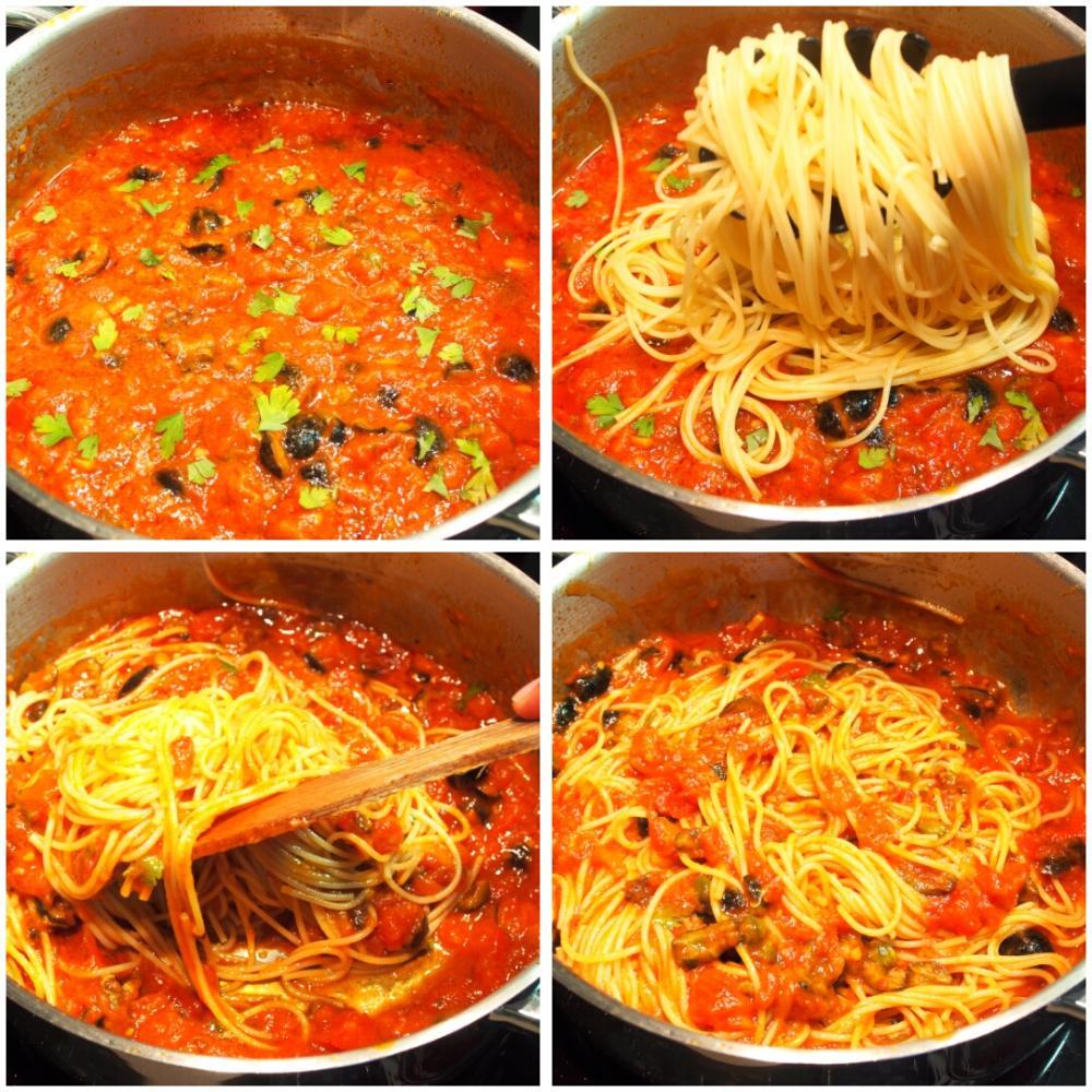 Spaghetti alla puttanesca - Paso 5