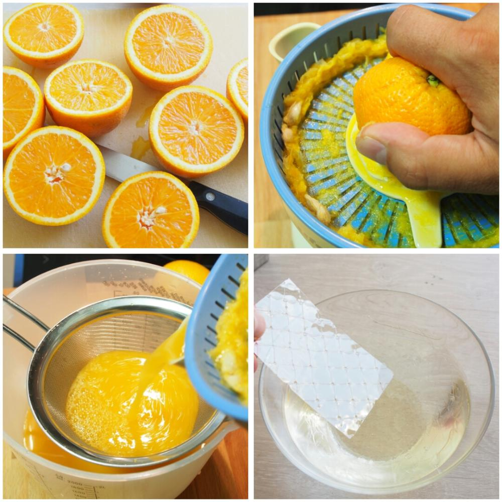 Pastel frío de naranja - Paso 2