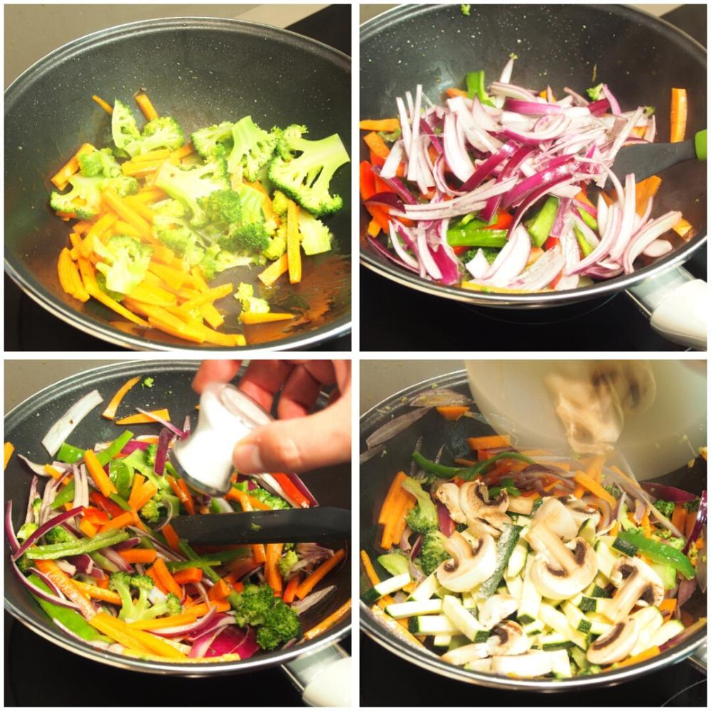Wok de verduras con soja - Paso 3