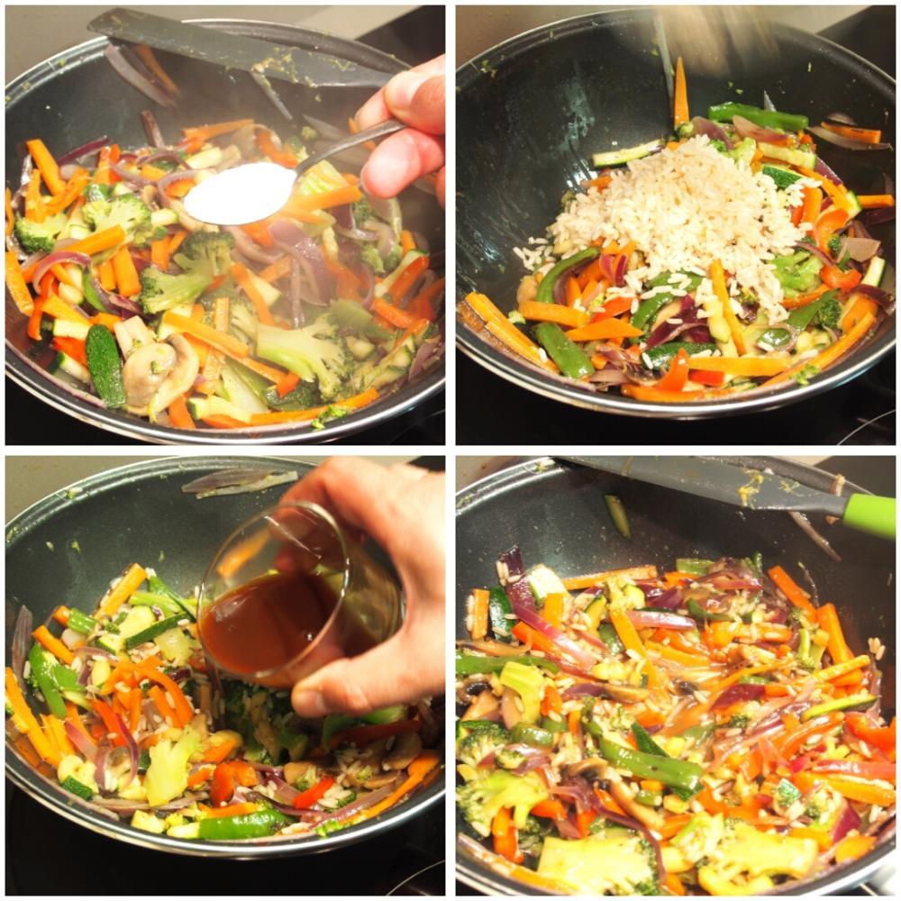Wok de verduras con soja - Paso 4