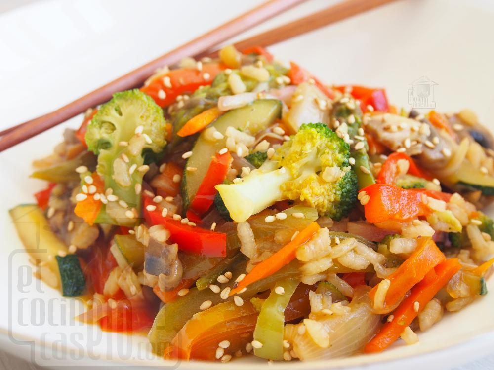 Wok de verduras con soja - Paso 5