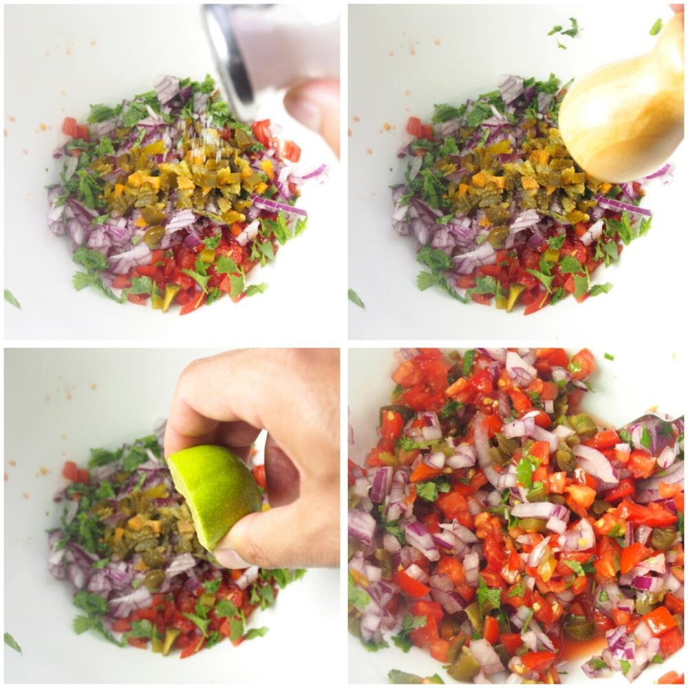 Salsa fresca mexicana - Paso 3