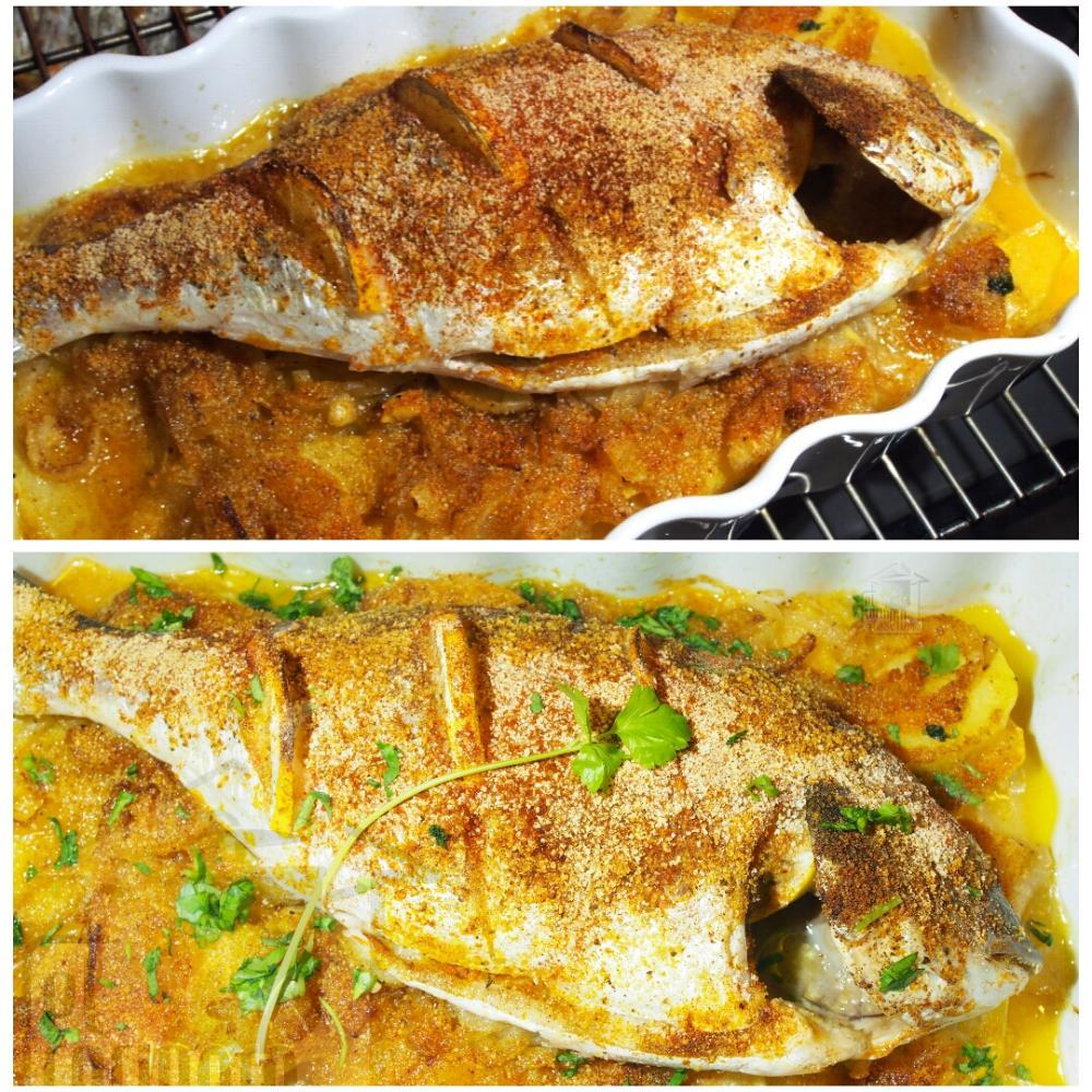 Dorada al horno con patatas - Paso 5