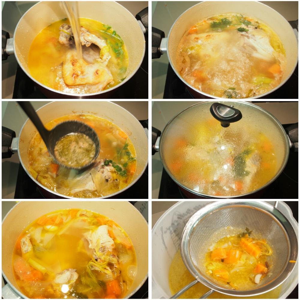 Caldo casero de pollo  - Paso 3