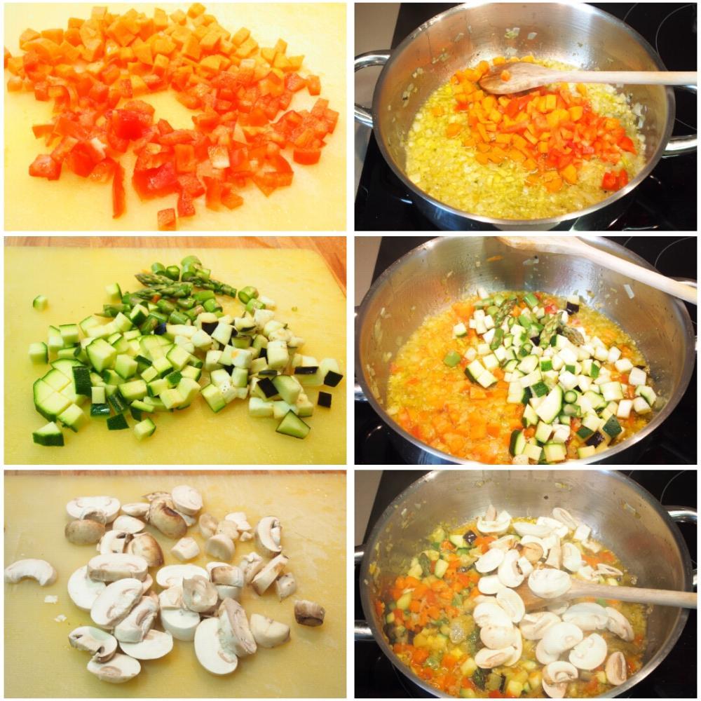 Arroz caldoso de verduras - Paso 3