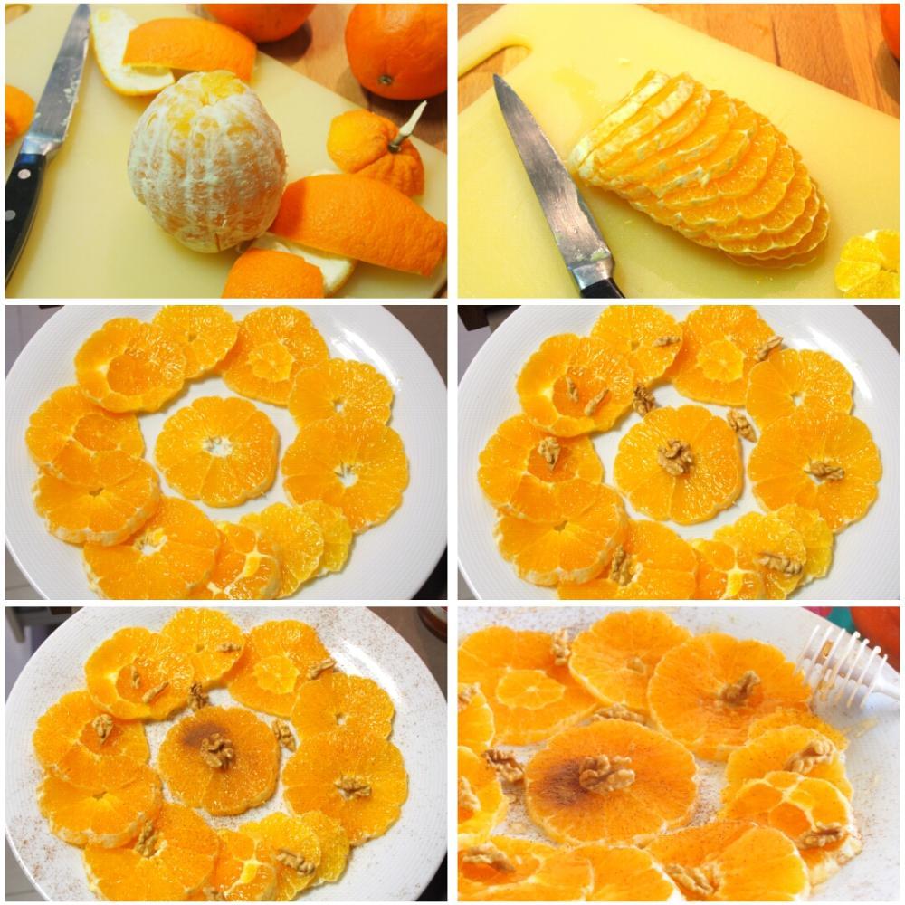 Naranjas con miel y canela - Paso 1