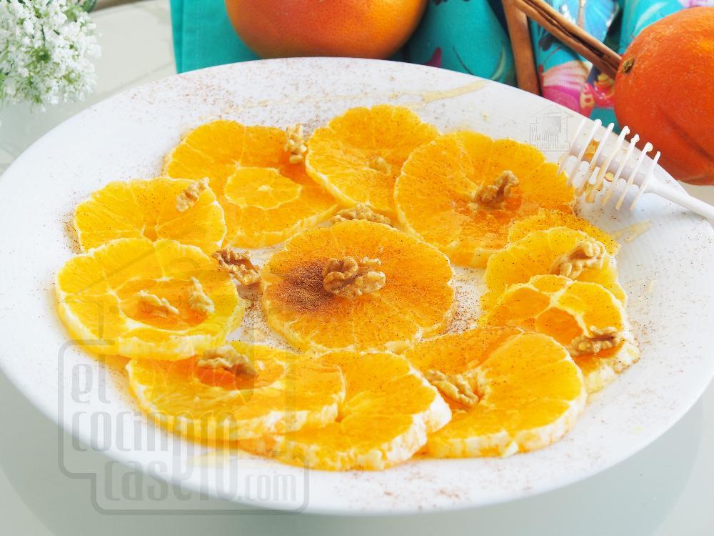 Naranjas con miel y canela - Paso 2