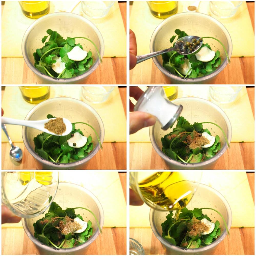 Mojo verde de cilantro - Paso 2