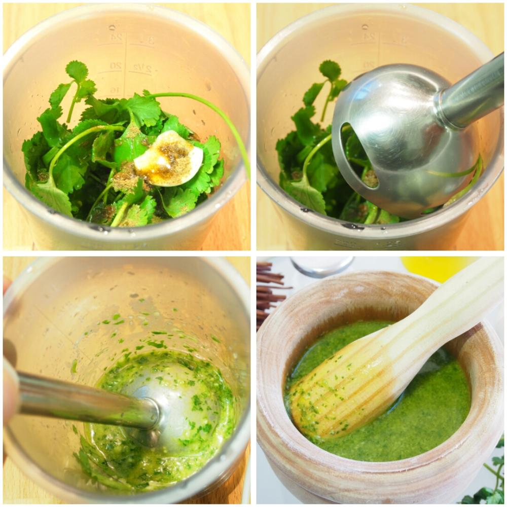 Mojo verde de cilantro - Paso 3