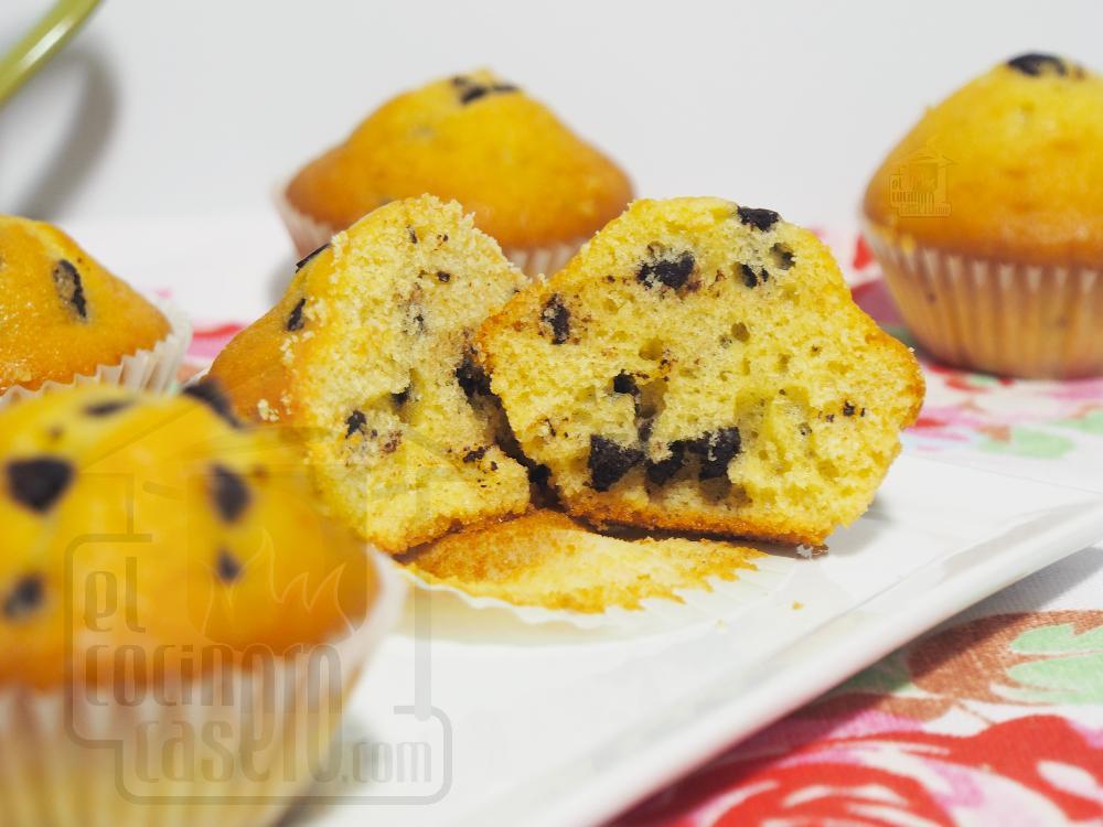 Muffins con pepitas de chocolate - Paso 8
