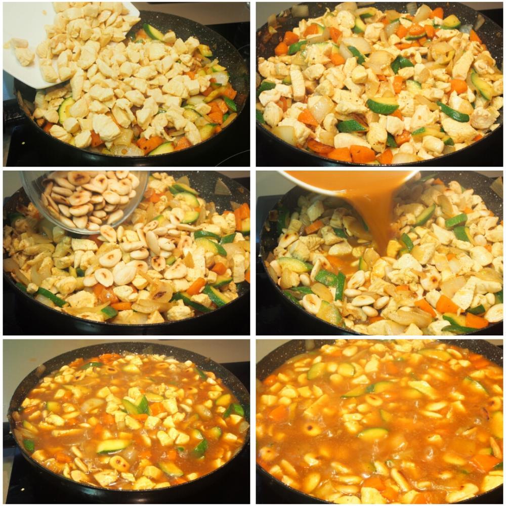 Pollo con almendras al estilo chino - Paso 5